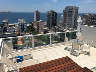 Photo for Ipanema Beach One Bedroom Penthouse With Private Terrace Panoramic Views