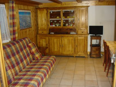Photo for apartment near the center of Megève, quiet area, 36m², separate toilet