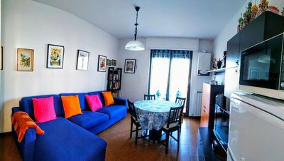 Photo for Bright one bedroom apartment in Casa Ginatta in Santo Stefano al Mare.