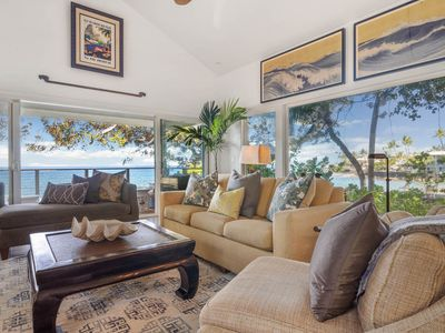 Photo for Private oceanfront oasis with patio, Roku TV -Nai'a Hale