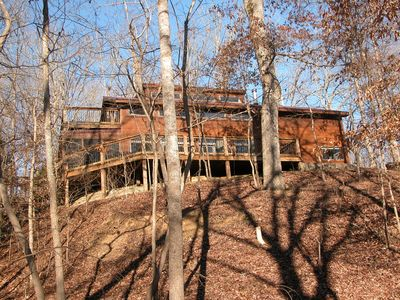 Photo for Off-Grid Solar Lakefront House/Private 80+ Wooded Acres On Nolin Lake