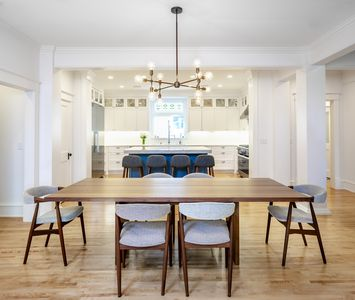 Open floorplan. Chef's kitchen opens to dining room.