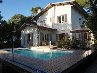 Photo for Abatilles - Beautiful villa clim. with heated pool - sleeps 10 - 1800m beach