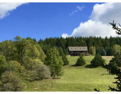 Photo for Zelený Les: house in a secluded 100 acre wood with meadows, pond, and brook