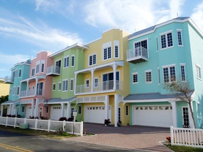South Beach Village townhomes - exterior front view