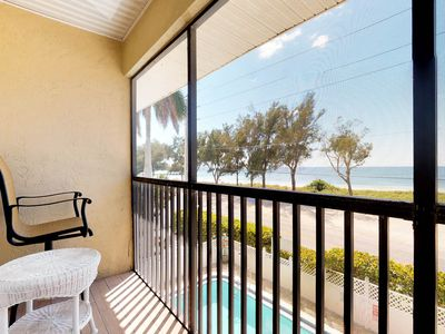 Photo for NEW LISTING! Oceanview condo w/shared pool, across the street from the beach