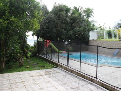 Photo for Villa bottom 3 bedrooms, pool, lush garden. Martinique authentic.