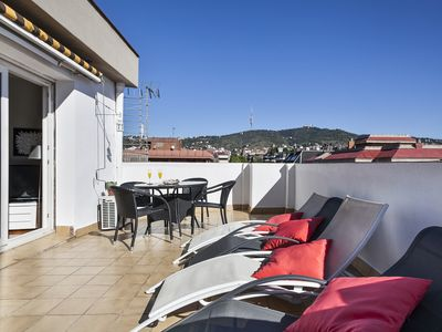 Photo for Comfortable penthouse with outdoor area for eating, sunbathing, relaxing ...
