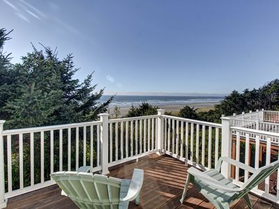Photo for NEW LISTING! Beautiful oceanfront home with beach views and a jetted tub! WiFi!