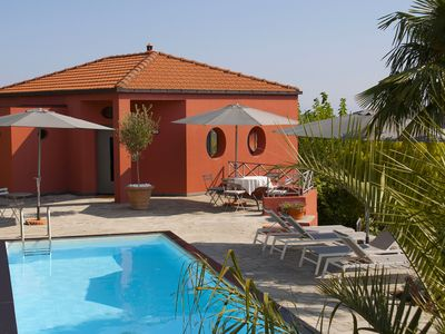 Photo for Casa Rossa, Colle Lupi. Holiday house with pool and views of the sea and mountains
