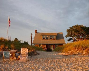 Photo for 1910 Beachhouse, Most exquisite private beach in Connecticut