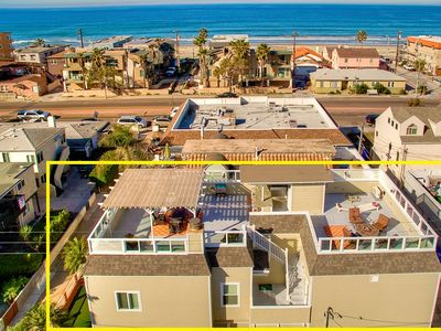 Photo for 1 House to Beach | 1,500sf Ocean View Deck + AC + 🐕 ok