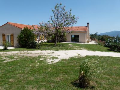 Photo for Large villa for 8 people, very quiet, swimming pool, sea and mountain views