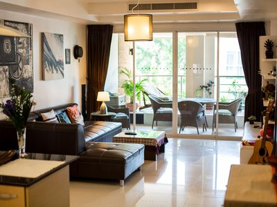 Photo for Fantastic Condo 1130 sqft 2BR large terrace, swimming pool queit area Patong