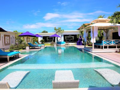 Photo for MODERN VILLA, 14 PEOPLE, HUGE SWIMMING POOL, HOUSEHOLD PERSONNEL, SEMINYAK