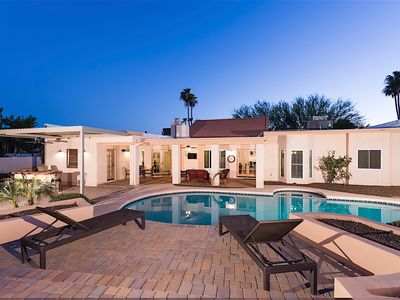 Photo for Ryan's Resort: Luxurious 3BR Home + Guest Casita - Heated Salt Water Pool & Spa