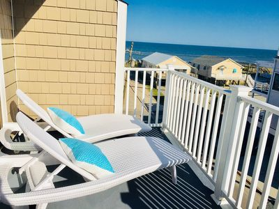 Photo for LUXURY 2BR, 2BA top floor condo with AMAZING OCEAN views and pool!