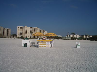 White sugar sandy beach