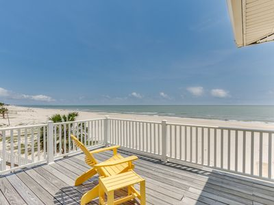 Photo for Extraordinary Gulf-front home w/multiple balconies & direct beach access