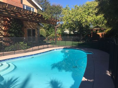 Photo for 4 bedrooms and 3 full bathrooms + office in Walnut Creek. Great yard with pool!