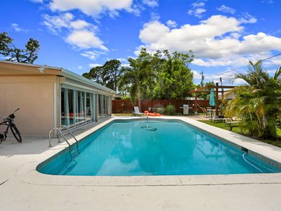 Photo for 3/2 Heated Pool House - walk/bike ride to beach