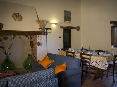 Photo for Large apartment in a farmhouse in the green countryside of Perugia