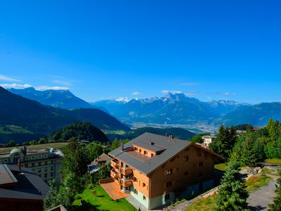 Your Spectacular View of the Swiss Alps from your Balconey