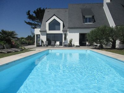 Photo for facing sea bay of quiberon, house with pool, carnac