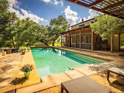 Photo for Modern Hill Country Retreat, 2 miles to downtown