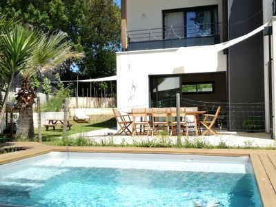 Photo for PEACEFUL VILLA WITH POOL - 3 km from the BEACH - Between OCEAN and LANDAISE FOREST.