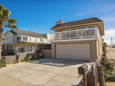 Photo for Ocean View 3 bedroom beach home, all the comforts of home, 15 feet to the sand.