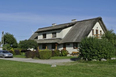 The front of the farmhouse