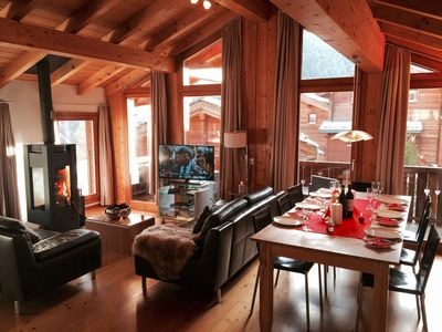 Photo for Luxury Quiet Alpine Ski Chalet, short distance from slopes and night life