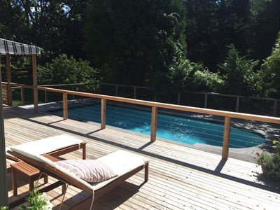 Photo for Peaceful Shelter Island sanctuary with heated gunite saltwater pool