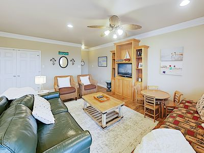 Photo for New Listing! Spacious Retreat: Gulf-View Deck & Balcony, Outdoor Shower