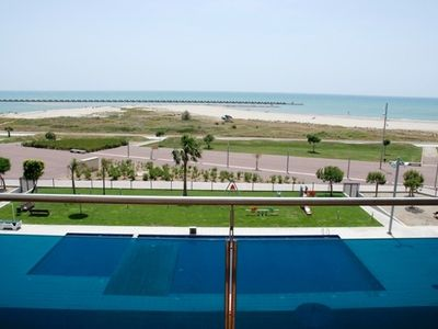 Photo for FRONTLINE PENTHOUSE WITH POOL & PARKING AND INCREDIBLE VIEWS ON QUIET BEACH