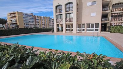 Photo for Studio cabin - 4 people - City center - Residence swimming pool - Air conditioning - Sainte Maxime