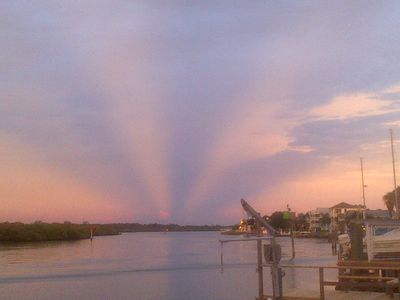 great sun rises and sunsets off the dock !