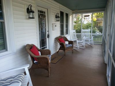 Spacious Front Porch Screened in.
