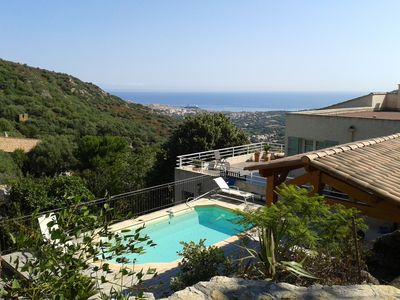 Photo for Ile rousse modern villa with beautiful sea view