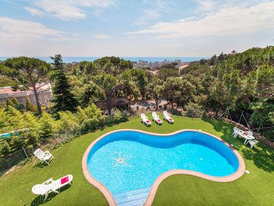 Photo for This 7-bedroom villa for up to 14 guests is located in El Vilar D'Aro and has a private swimming poo