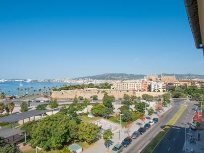 Photo for PENTHOUSE IN FRONT OF THE SEA IN MARITIME WALK NEAR CATHEDRAL OF PALMA