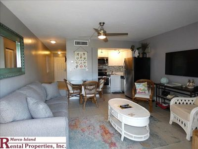Photo for Beautifully updated 1 Bed, 1 Bath Beach Club condo with a front load washer/dryer inside the unit. Private beach access across the street. Free wifi,telephone