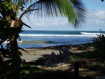 Photo for NEW HOME ON THE BEACH IN THE JUNGLE.  Surf, waterfall, yoga, restaurants nearby.