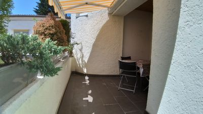 Photo for Apartment on the ground floor with sunny south-facing balcony near Barbarossa-Therme and center