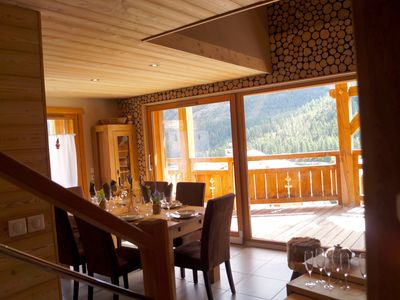 Photo for CHALET K Luxury 8 people in Montgenevre on tracks was winter with spa and pool