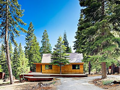 Photo for Modern Wooded Oasis w/ Private Hot Tub & Wraparound Deck, Walk to Beach!