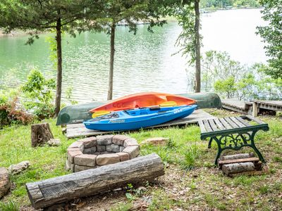 Photo for Lake Front Charming Chalet, Swim, Boat, Relax, Canoe, Kayak, Fire Pit