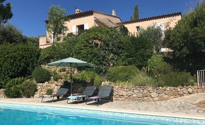 Photo for Villa sleeps 9, sea views, near St Tropez