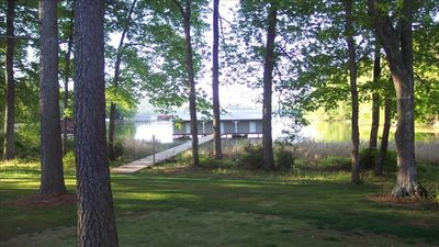 Photo for Lodgestyle Lakefront Home w/ Boathouse